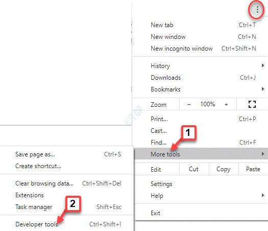 Chrome Three Dots More Tools Developer Tools