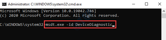 Command Prompt (admin) Run Device Diagnostic Commabd Enter