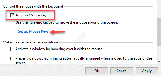 Control The Mouse With The Keyboard Turn On Mouse Keys Set Up Mouse Keys