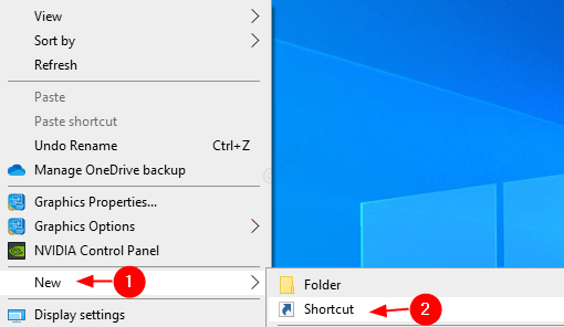Create Shortcut Min