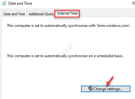Date And Time Internet Time Change Settings