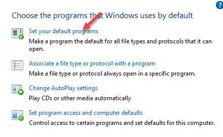 Default Programs Choose The Program That Windows Uses By Default Set As Default
