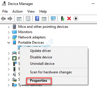 Device Manager Problem Device Right Click Properties