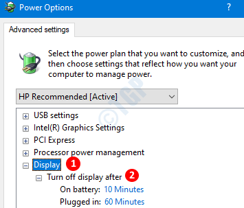 Display Option In Power Options
