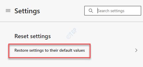 Edge Settings Reset Settings Restore Settings To Their Default Values