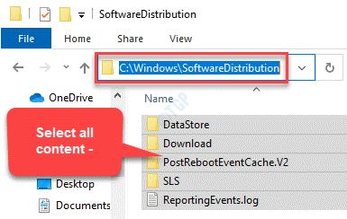File Explorer Navigate To Software Distribution Select All Content Delete