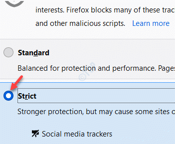 Firefox Enhanced Tracking Protection Stroct