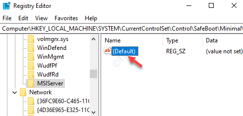 Msiserver Right Side Default Double Click