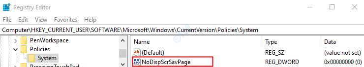 Nodispscrsavpage Key