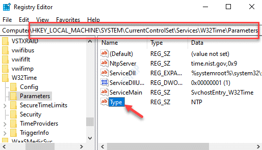 Registry Editor Navigate To Parameters Type Double Click