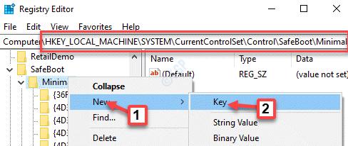 Registry Editor Navigate To Location Minimal Right Click New Key