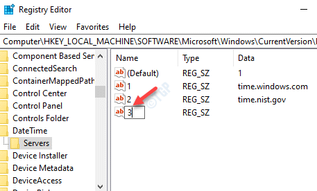 Registry Editor Rename New String Value Based On Time Server Numbers