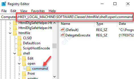 Registry Editor Navigate To Path Command Key