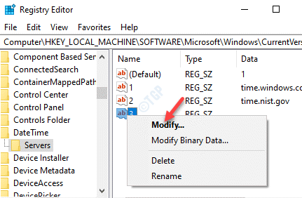 Registry Editor New String Value Right Click Modify