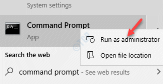 Result Command Prompt Right Click Run As Administrator