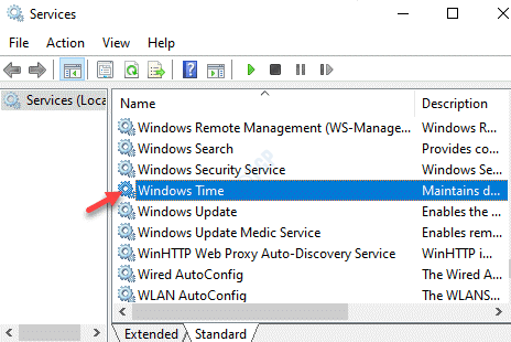 Services Name Windows Time Double Click
