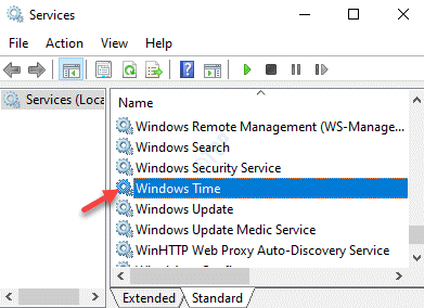 Services Windows Time Double Click