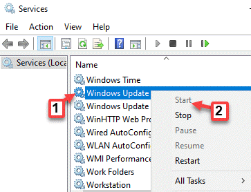 Services Windows Update Right Click Start