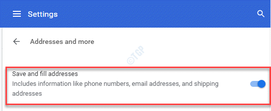 Settings Addresses And More Save And Fill Addresses Turn On