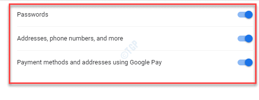 Settings Passwords Addresses, Phone Numbers And More Payment Methods And Addresses Using Google Pay Turn On