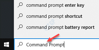 Start Windows Search Command Prompt