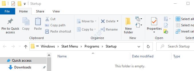 Startup Folder Sample