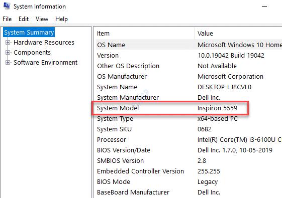 System Information System Mode;