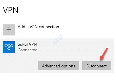 Vpn Select Actiive Vpn Disconnect