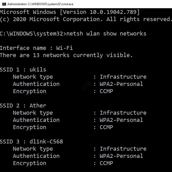Wifi List In Command Propmt