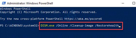 Windows Powershell (admin) Execute Run Dism Command