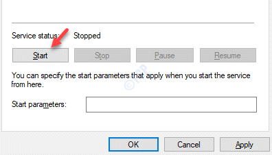 Windows Time Properties General Service Status Start