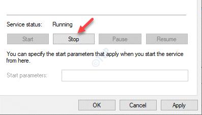 Windows Time Properties General Service Status Stop