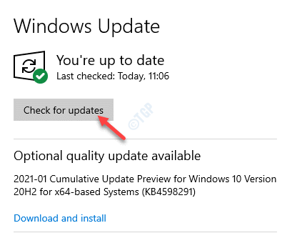 Windows Update Check For Upddates