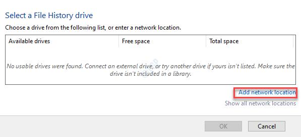 Add Network Location Min