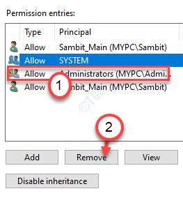 Admin Remove Permission Min