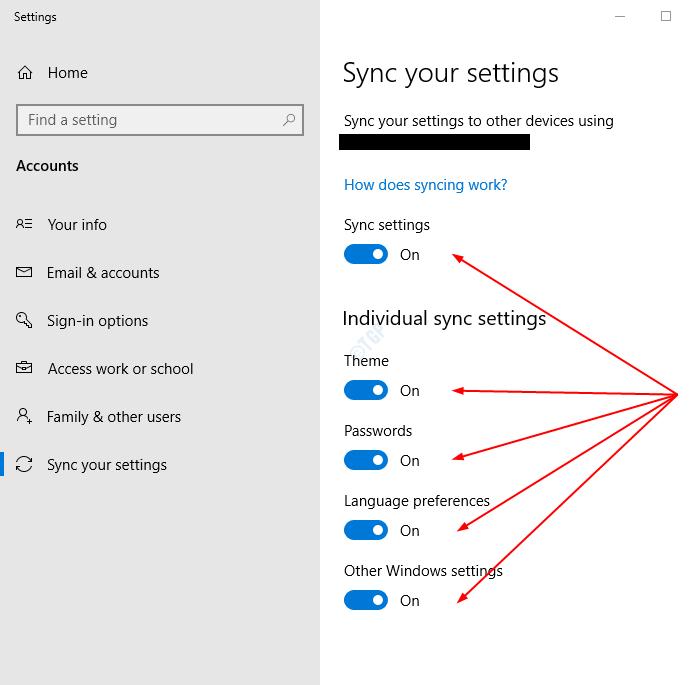 Cách Bật Tắt Cài Đặt Đồng Bộ Hóa Trên Windows 10 - AN PHÁT
