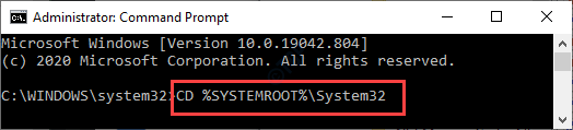 Cd Systemroot System32 Min