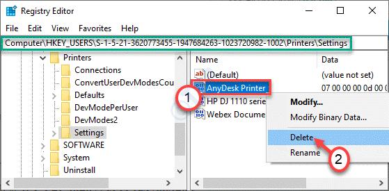 Delete Printer Settings Min