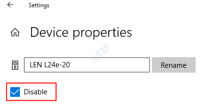 Device Propertoes Disable
