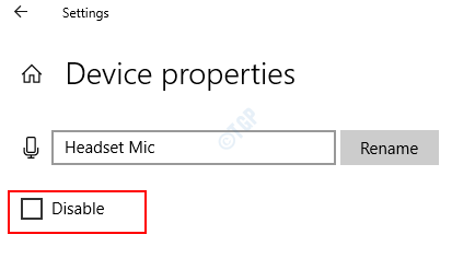 Disable Device Properties