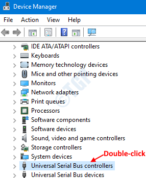 Double Click On Usb