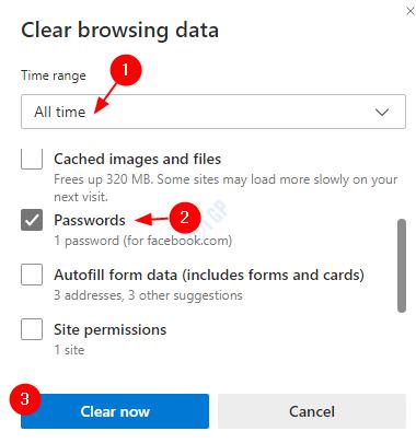 Edge Passwords Clear