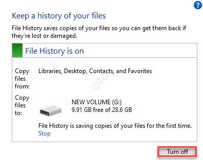 File History Off Min