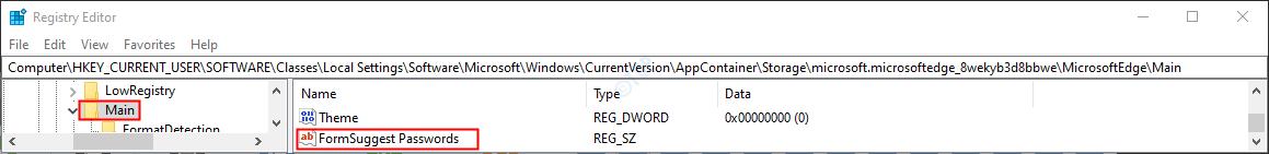 Formsuggest Passwords