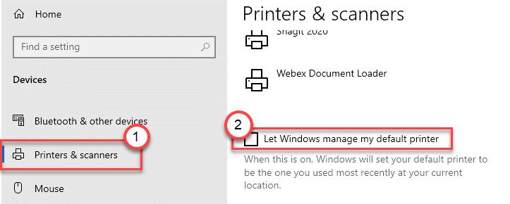 Let Windows Manage Default Printer Min