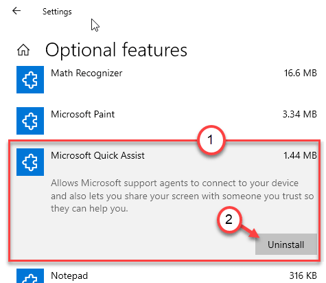 Microsoft Quick Assist Uninstall Min