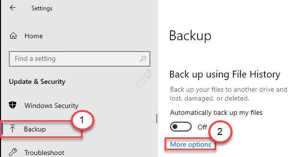 More Options Backup Min