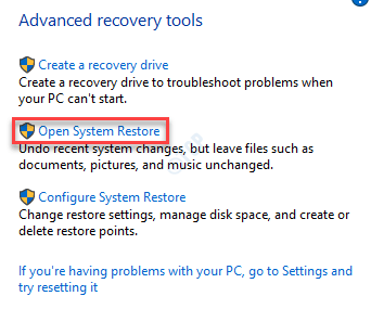 Open System Restore Min