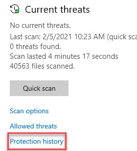 Protection History Min