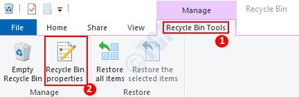 Recycle Bin Properties